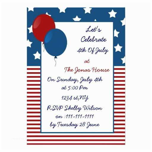 Funny Holiday Party Invitations Fun 4th Of July Holiday Party Invitation