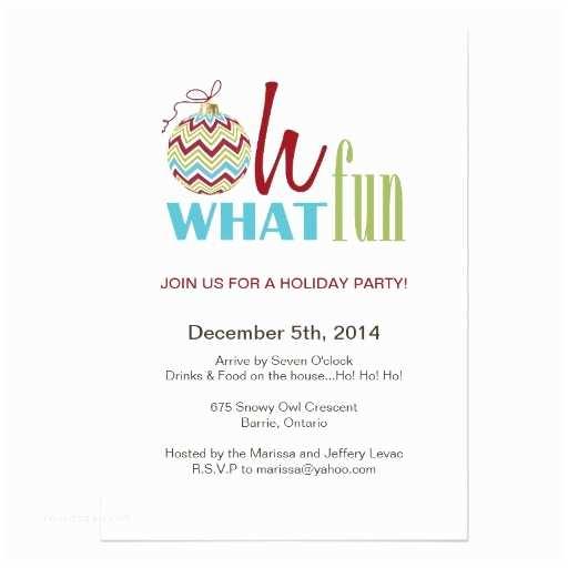 Funny Holiday Party Invitations Fun Chevron Christmas Party Invitation