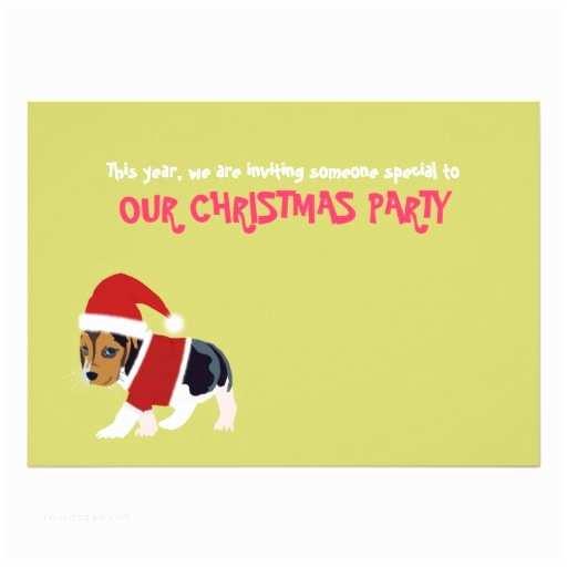 "Funny Holiday Party Invitations Funny Christmas Party Invitation Card Dog 5"" X 7"