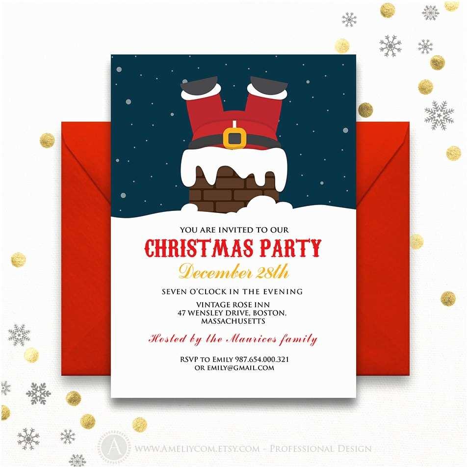 Funny Holiday Party Invitations Santa Christmas Invitations Printable Funny Holiday by