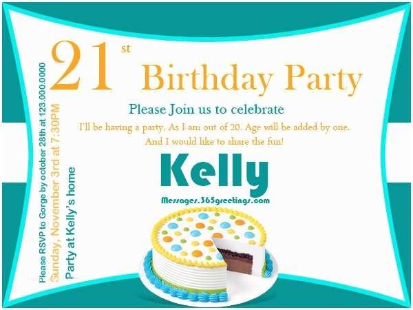 Funny Party Invitation Wording 21st Birthday Invitations 365greetings