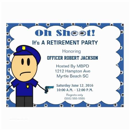 funny police officer retirement invitation