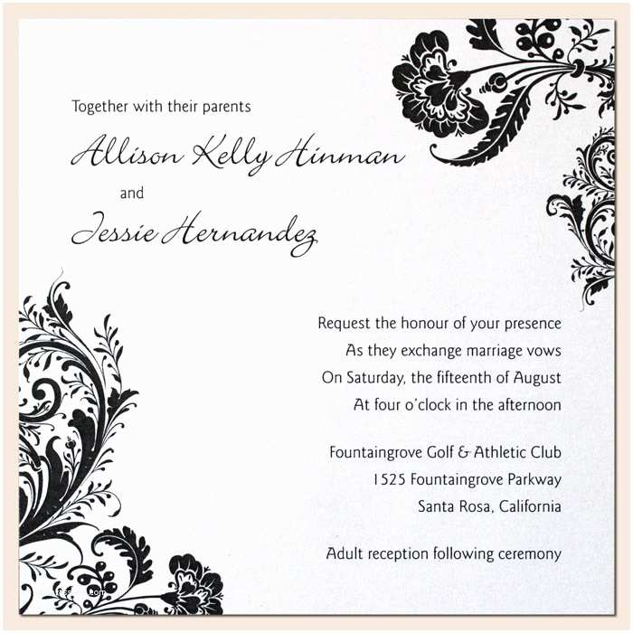 wedding invitation colors
