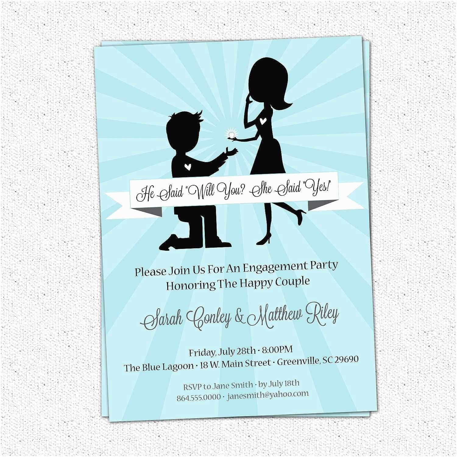 Funny Wedding Invitation Templates Free Engagement Party