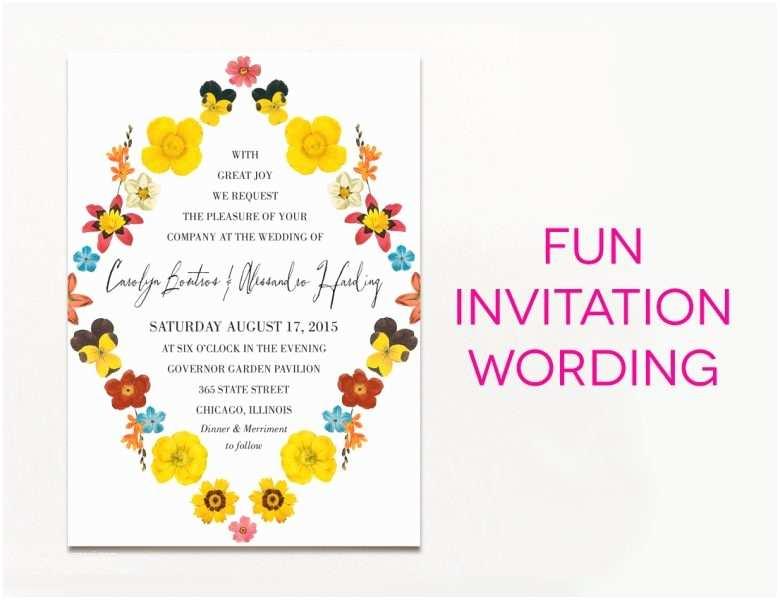 Funny Wedding Invitation Wording Wedding Invitation Wording Creative And
