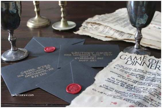 Game Of Thrones Party Invitation Dinner Parties Seals and Game Of On Pinterest