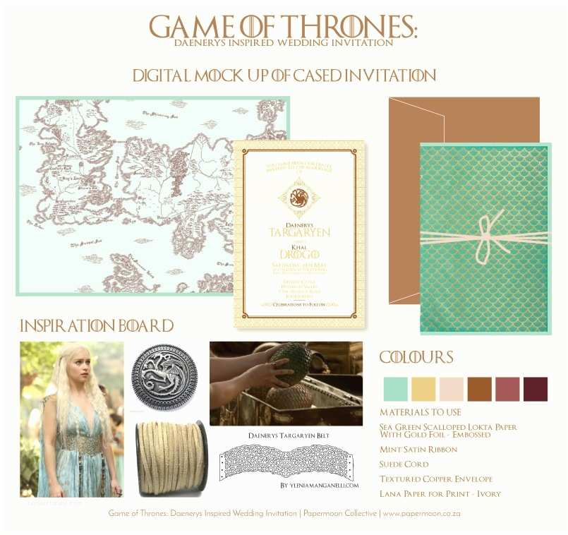 Game Of Thrones Party Invitation Game Of Thrones Inspired Wedding Invitation by Papermoon
