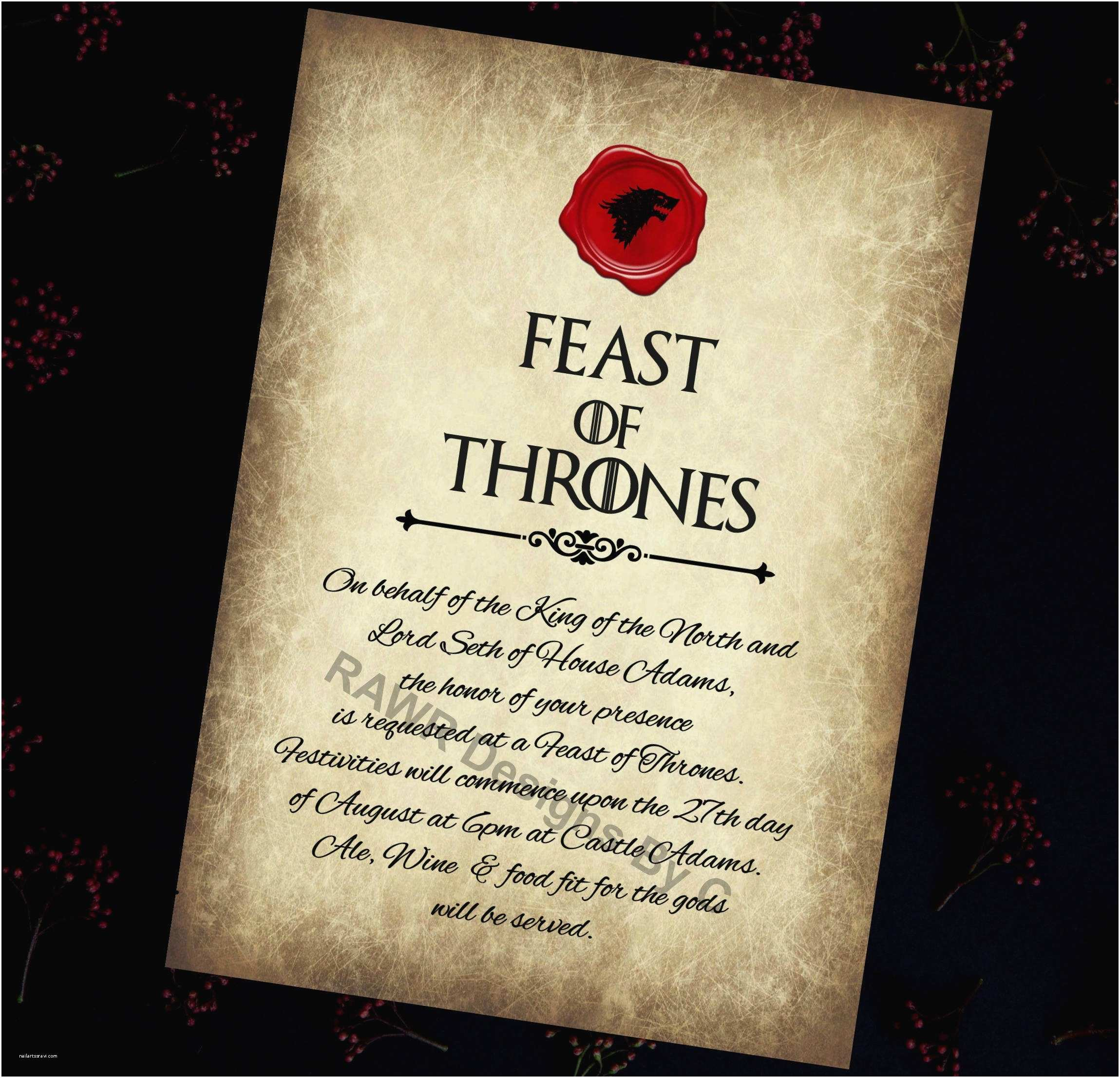 Game Of Thrones Party Invitation Game Of Thrones Invitation Game Of Thrones Printable