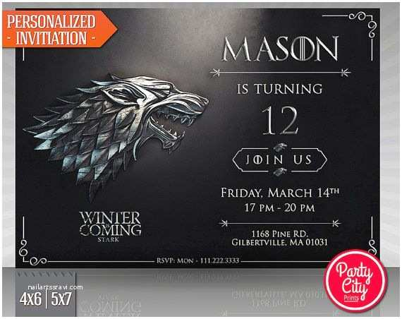 Game Of Thrones Party Invitation Hey I Found This Really Awesome Etsy Listing at S