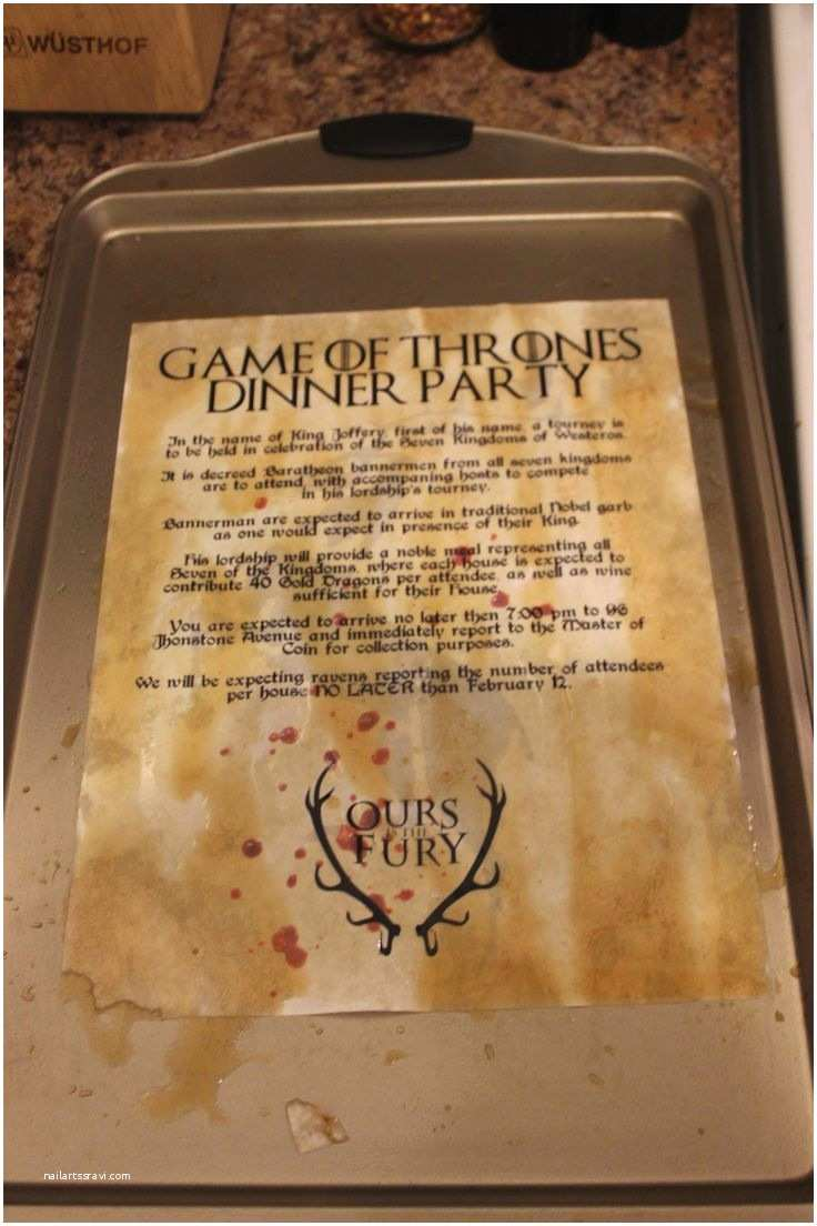 Game Of Thrones Party Invitation How to Distress Your Invite or Menu for A Game Of Thrones