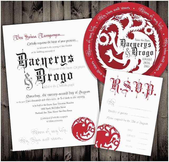 Game Of Thrones Party Invitation Not Surprised Game Thrones Wedding Invitations