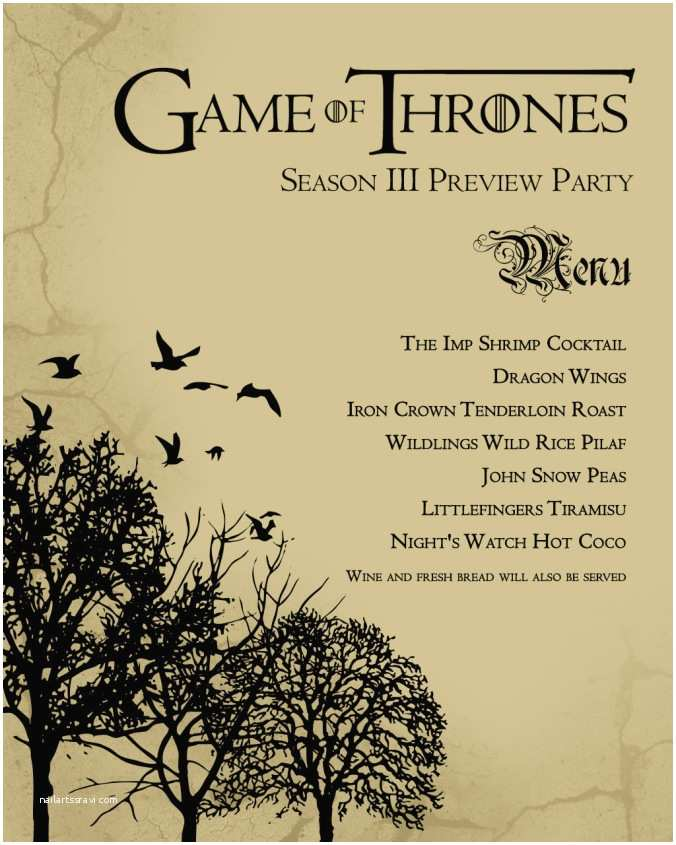 Game Of Thrones Party Invitation Throw An Epic Game Of Thrones Watch Party 70 Great Ideas