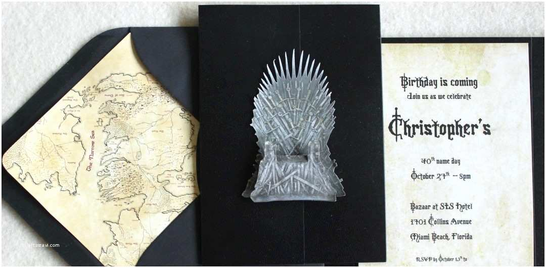 Game Of Thrones Wedding Invitations Game Of Thrones theme Birthday Party Invitations – Tanja