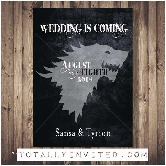 Game Of Thrones Wedding Invitations Game Of Thrones Wedding is Ing Save the Date by