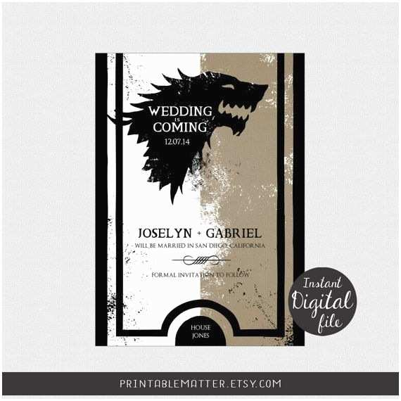Game Of Thrones Wedding Invitations Wedding Save the Date Design 1 9 Game Of Thrones