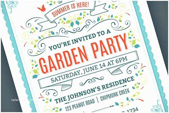 Garden Party Invitations 20 Party Invitation Templates – Free Sample Example