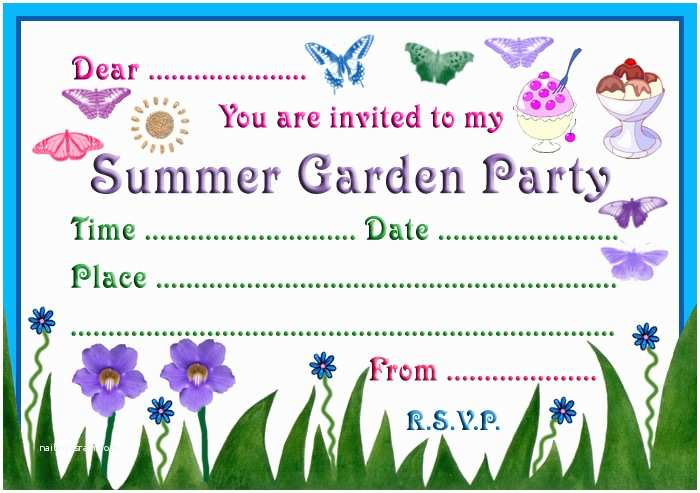 Garden Party Invitations 7 Best Of Summer Party Printable Invitations Kids