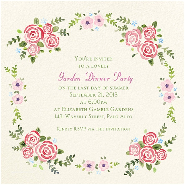 Garden Party Invitations Dripping with Passion Loveliness Under the Gazebo