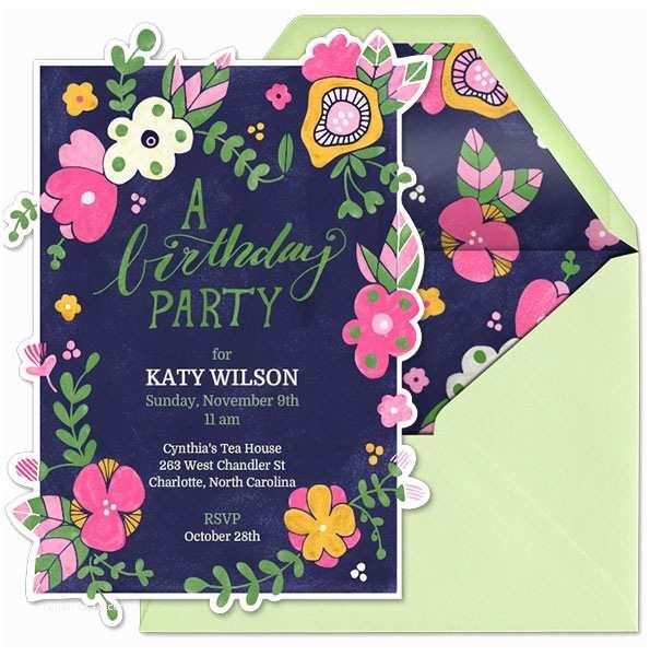 Garden Party Invitations Garden Birthday Party Evite