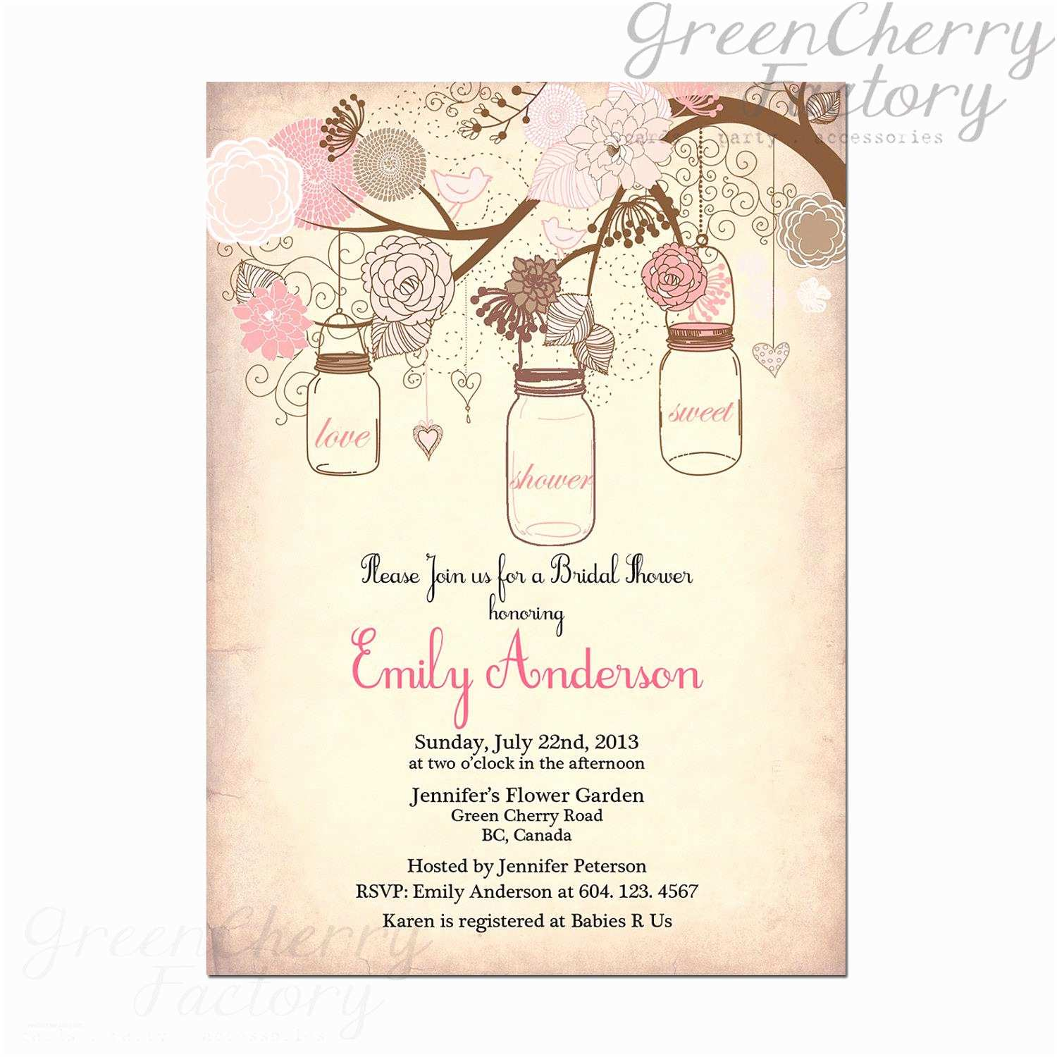 Garden Party Invitations Garden Party Invitations
