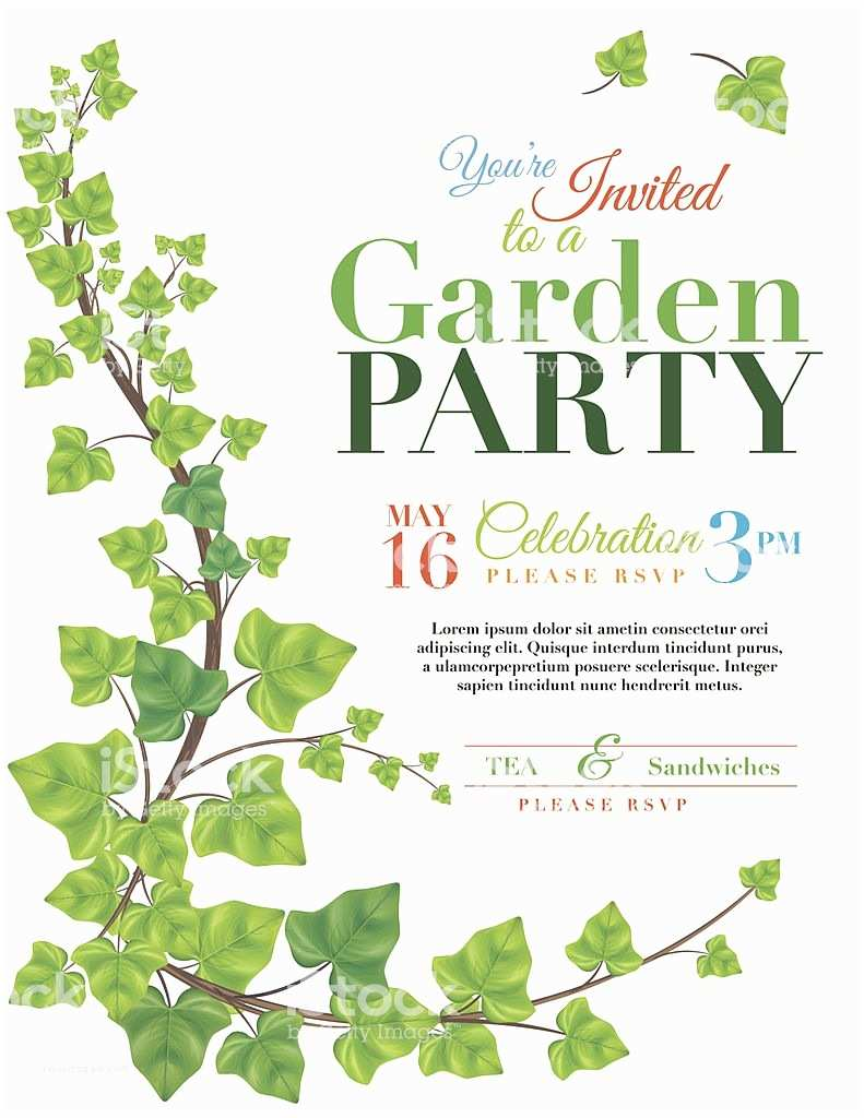 ivy garden party invitation template gm