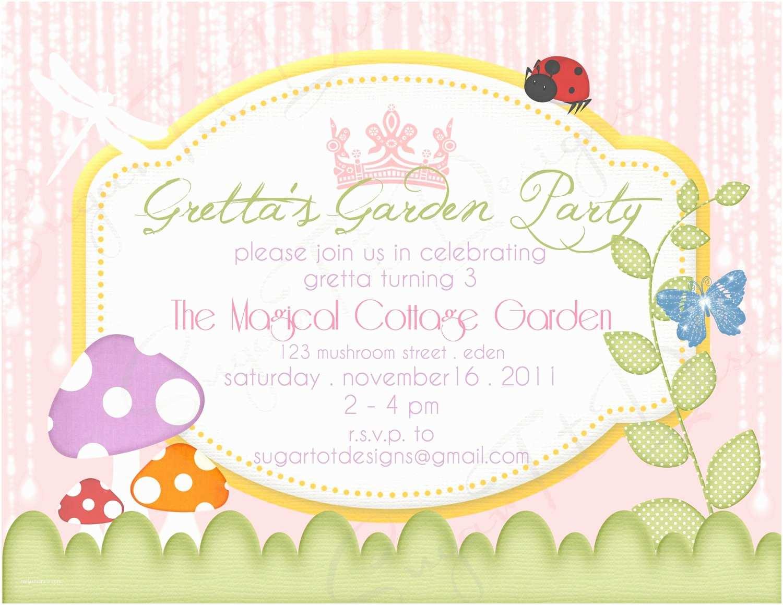 Garden Party Invitations Magical Invitation Birthday