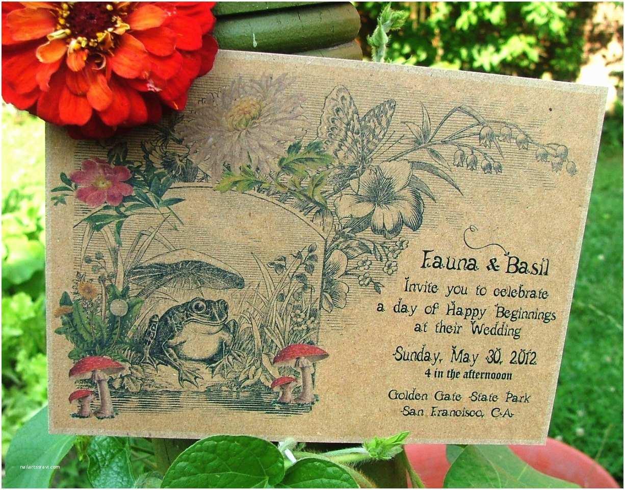 Garden Wedding Invitations Recycled Wedding Invitations Garden Wedding by