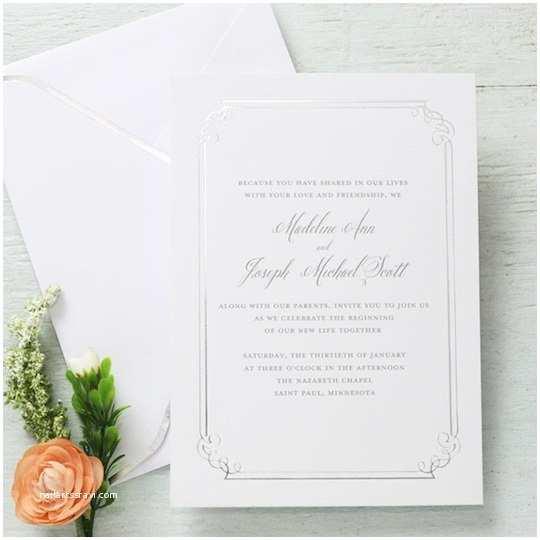 Gartner Wedding Invitations Gartner Studios formal Silver Border Invitation