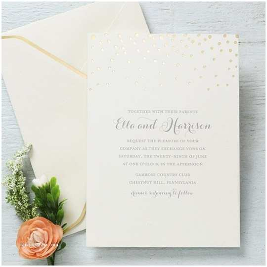 Gartner Wedding Invitations Gartner Studios Gold Foil Dots Invite
