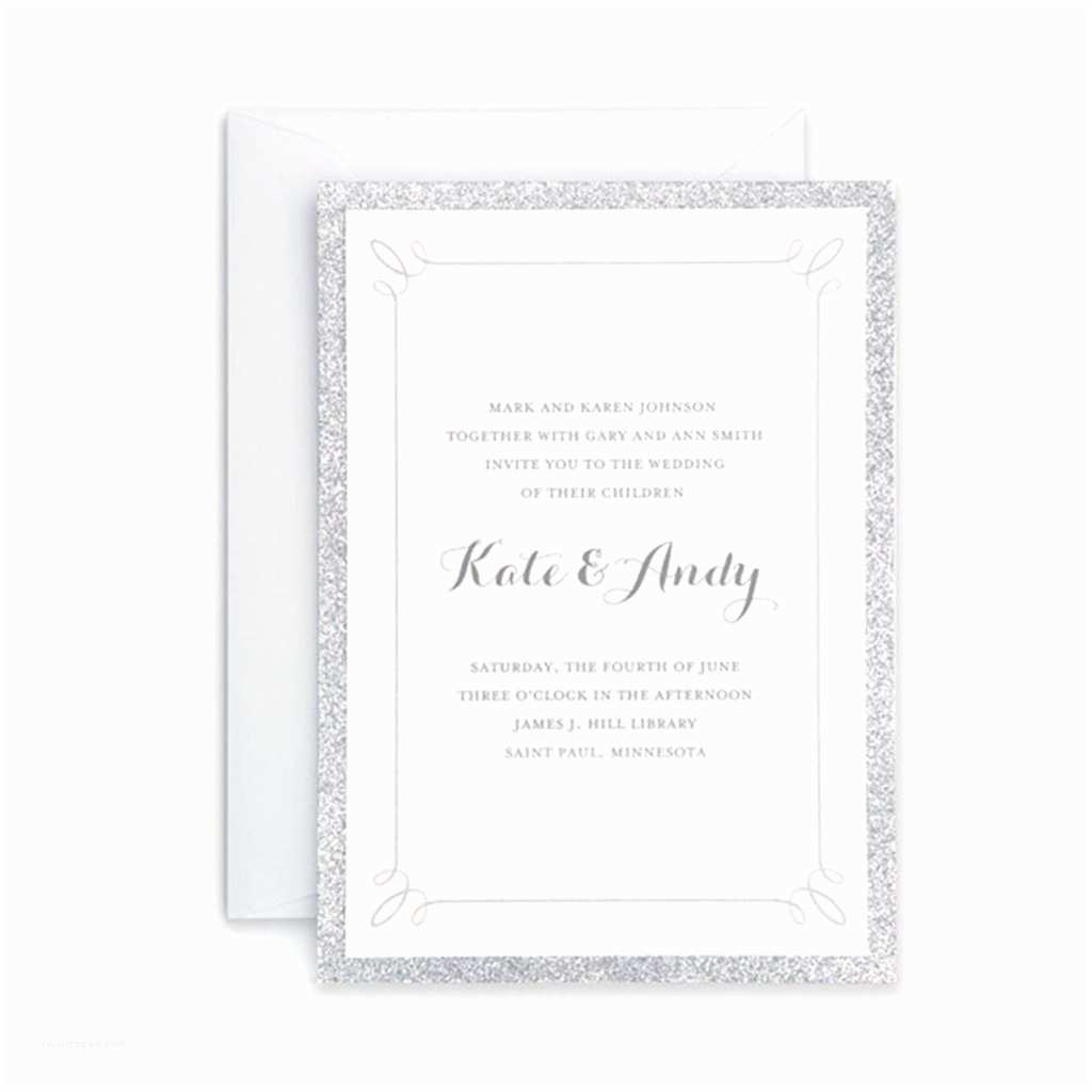 Gartner Wedding Invitations Gartner Studios Silver Glitter Invitation
