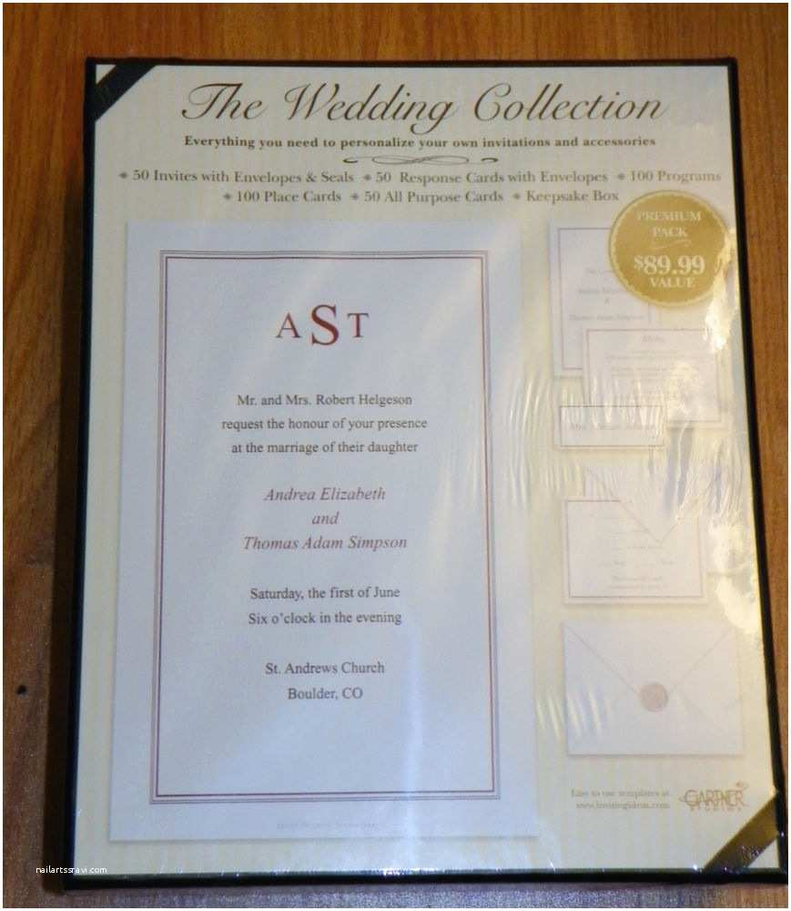 Gartner Wedding Invitations Gartner Wedding Invitation Kit 50pk Invites Response Cards