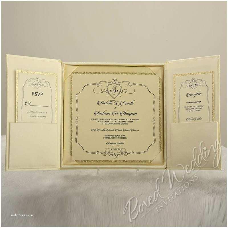 Gatefold Wedding Invitations Black Tie Gatefold Invitation Box