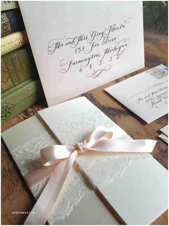 Gatefold Wedding Invitations Calligraphy Wedding Invitation Gatefold with by
