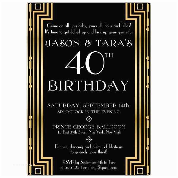 Gatsby Party Invitation Gatsby Party Invitation Template Free