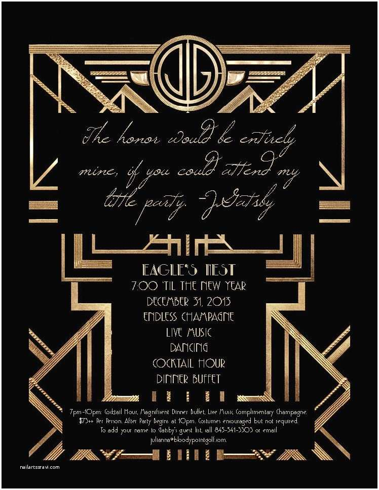Gatsby Party Invitation Speakeasy Flapper Great Gatsby Party