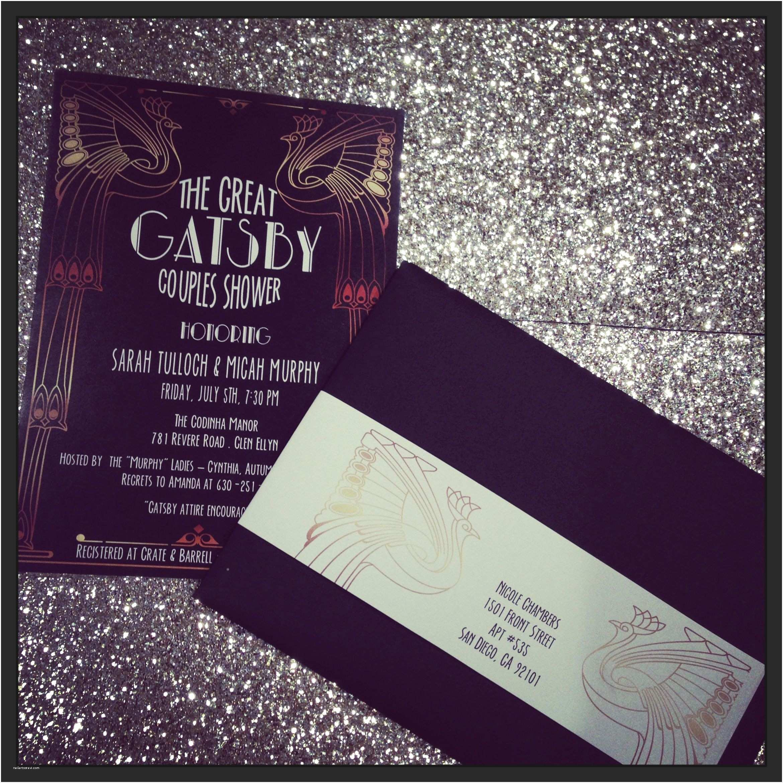 Gatsby Party Invitation Great Gatsby Party Invite