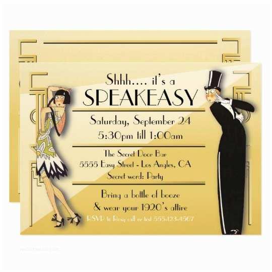 Gatsby Party Invitation Speakeasy Flapper Great Gatsby Party Invitation