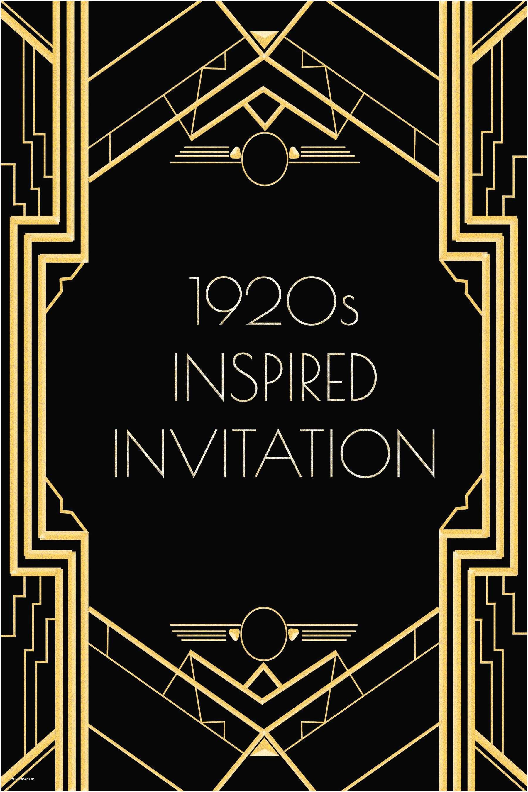 Gatsby Party Invitation Use This 1920s Inspired Invitation Template for A Gatsby