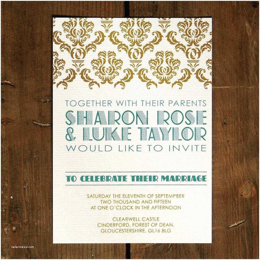 Gatsby Wedding Invitations Art Deco Gatsby Wedding Invitation by Feel Good Wedding