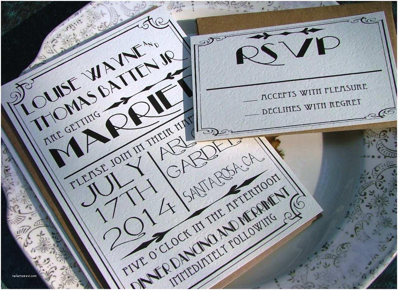 Gats Wedding Invitations Art Deco Wedding Invitations Gats Wedding