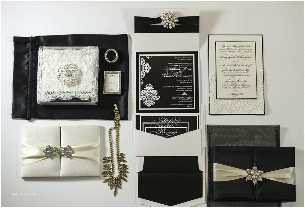 Gatsby Wedding Invitations Great Gatsby Custom Wedding Invitations Lilian Designs
