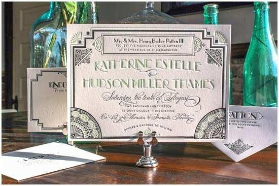 Gatsby Wedding Invitations Great Gatsby Inspired Art Deco Wedding Invitations