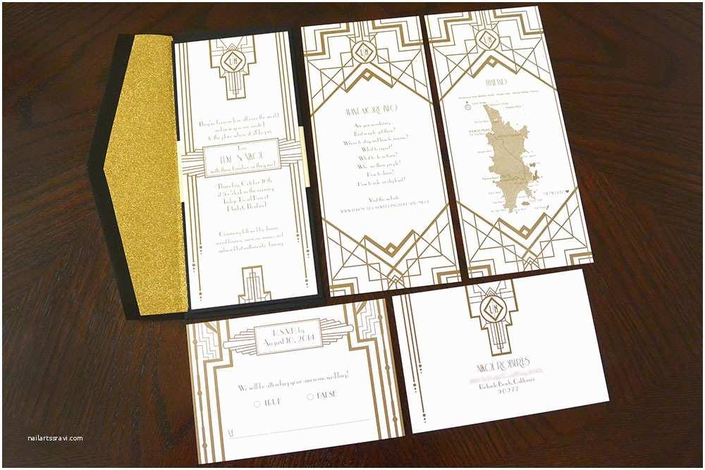 Gatsby Wedding Invitations Great Gatsby Inspired Wedding