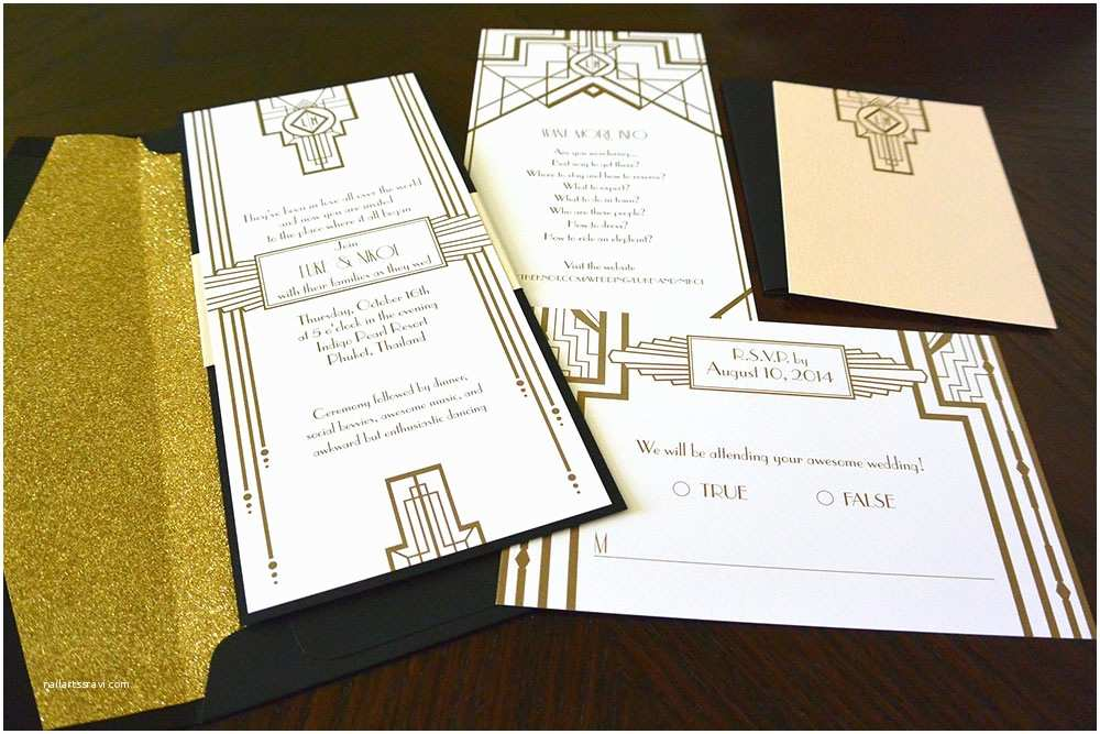 Gatsby Wedding Invitations Great Gatsby Wedding Invitations – Gangcraft