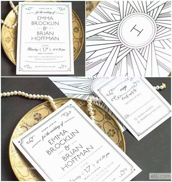 Gatsby Wedding Invitations Wedding Deco And Google On