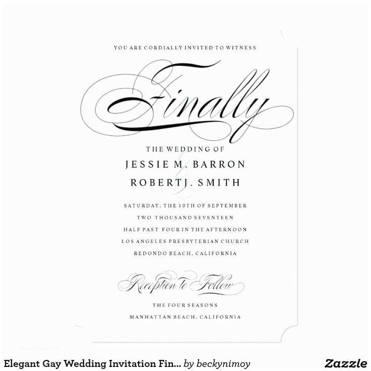 Gay Wedding Invitations 22 Best Gay & Lesbian Wedding Invitations Images On