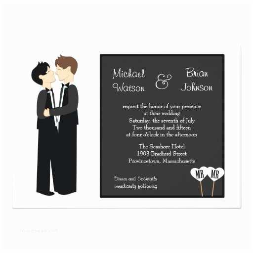 Gay Wedding Invitations Gay Tuxedo Wedding Invitation
