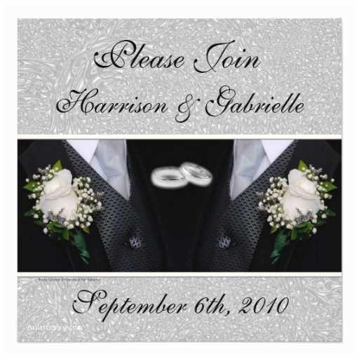 Gay Wedding Invitations Gay Wedding Civil Union Custom Invitation