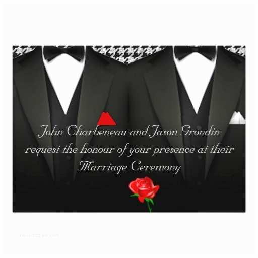 wedding invitation elegant tuxedos