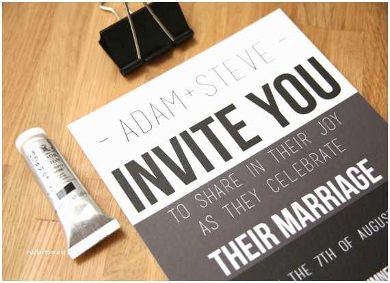 Gay Wedding Invitations Gay Wedding Invitation Stationery Sample Set by Shoshycadoodle